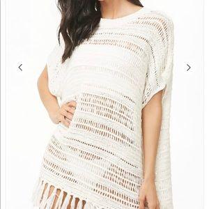 Open Knit Swim Cover Up Dress